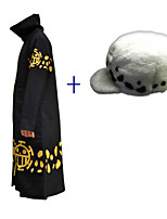 Inspired by Cosplay Cosplay Anime Cosplay Costumes Cosplay Suits Print Black Cloak Hat For