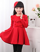 Girl's Pink / Red Dress , Dresswear Polyester Winter / Fall