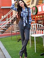 DABUWAWA® Women's High Rise Straight / Cigarette Light Gray Casual Pants