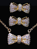Gorgeous Gold Plated With Cubic Zirconia Wedding/Special Occaision / Party Jewelry Set.