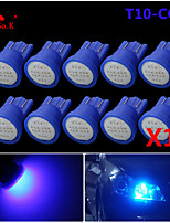 de alta potencia de 10 x azul cob t10 194 168 12V LED bombillas tablero de instrumentos