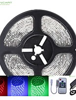 5M 75W 300x5050 SMD LED DC12V IP68 Waterproof Strip Light + 10Key Remote Control RGB + 12V 2A power AC100-240V