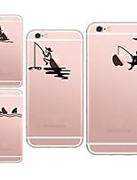 Назначение iPhone X iPhone 8 Кейс для iPhone 5 Чехлы панели Прозрачный С узором Задняя крышка Кейс для Композиция с логотипом Apple Мягкий