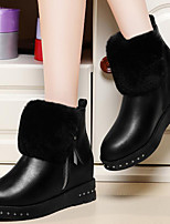 Women's Shoes Synthetic Flat Heel Snow Boots / Fashion Boots Boots Party & Evening / Dress / Casual Black