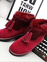 Women's Shoes Fleece Low Heel Fashion Boots Boots Office & Career / Dress / Casual Black / Red