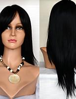 22inch Spitzefronthaarperücken Berühmtheit Stil Haarperücken 100% Echthaar mongolisches reines Haar glattes Haar Perücken für Frauen