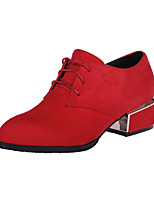 Women's Shoes Chunky Heel Heels / Pointed Toe Heels Dress Black / Red / Burgundy