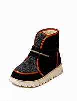 Women's Shoes Platform Round Toe / Closed Toe Boots Outdoor / Casual Black / Beige