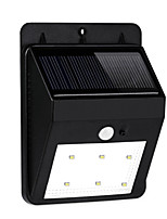 HRY® 6LEDS IP55 Montion Sensor Light Wall Mount Outdoor Garden Door Gate Lamp