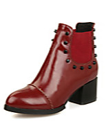 Women's Shoes Chunky Heel Round Toe / Closed Toe Boots Office & Career / Athletic / Dress Black / Brown / Burgundy