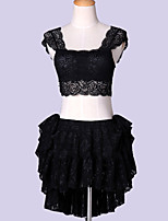 Belly Dance Outfits Women's Performance Lace Lace 2 Pieces Black / White