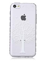 ondas padrão de árvore escorregar pega TPU caso de telefone macio para iphone 5c