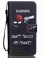 Para Samsung Galaxy Capinhas Carteira / Porta-Cartão / Com Suporte / Flip Capinha Corpo Inteiro Capinha Palavra / Frase Couro PU Samsung