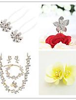 Wedding Suit(Headdress & Necklace & Earrings & Bracelet & Ring & Brooch & Cake Topper)