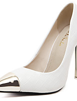 Women's Shoes Stiletto Heel Pointed Toe Heels Party & Evening / Dress Black / White
