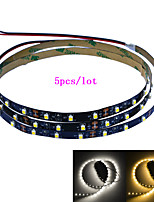 Jiawen 5pcs/lot 100CM 4W 60x3528SMD White/Warm white Light LED Strip Lamp for Car and Cabinet (DC 12V)