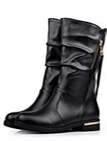Women's ShoesLow Heel Round Toe / Closed Toe Boots Office & Career / Athletic / Dress Black / Brown