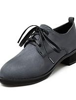 Femme-Décontracté--Gros Talon-Confort-Chaussures à Talons-Microfibre