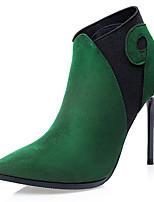 Scarpe Donna - Scarpe col tacco / Stivali - Formale / Serata e festa - Tacchi / Stivaletto - A stiletto - Scamosciato -Nero / Verde /