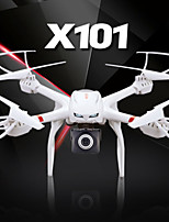 MJX X101 2.4G 6 Axis 3D Roll One Key Return Quadcopter + 720P C4008 FPV Real Time Wifi Camera White Drones