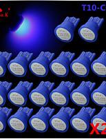 de alta potencia de 20 x azul cob t10 194 168 12V LED bombillas tablero de instrumentos
