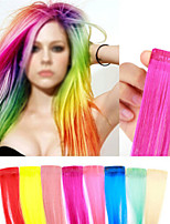 European and American Punk Harajuku Color Streaked Wig Piece Wig Hairpiece Wig(6pcs)