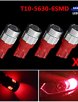 4X T10 192 194 2825 High Power 5630 Chip SMD LED Pure Red Interior Light Bulbs