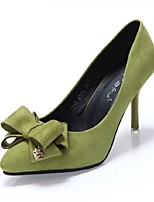 Women's Shoes Leatherette Stiletto Heel Heels Boots / Bootie Heels Wedding / Office & Career / Party & Evening
