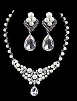 Elegant Design Alloy With Rhinestone And Pearl Wedding/Special Occaision / Party Jewelry Set.