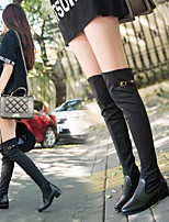 Women's Shoes Microfibre / Flat Heel Fashion Boots / Closed Toe Boots Outdoor / Dress / Casual Black