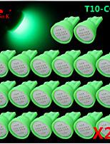 alta potência 20 x espiga verde t10 194 168 12v levou lâmpadas instrumento traço