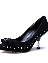 Women's Shoes Suede Stiletto Heel Heels / Pointed Toe Heels Office & Career / Dress Black