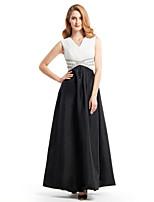 Robe de Mère de Mariée  - Noir A-line Longueur cheville Sans manches Mousseline polyester / Taffetas