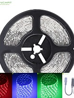 5m SMD LED 75w 300x5050 DC12V bande de lumière étanche IP68 + 10KEY rgb de contrôle à distance