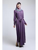 Formal Evening Abaya - Floor-length A-line Dress