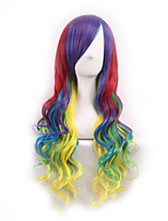 Cos Wig  Four Color Gradient Japan Original SuFeng Curly Hair Wig