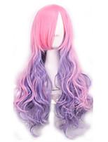 мода сексуальные женщины волосы парики Ombre розового до фиолетового цвета косплей синтетические парики