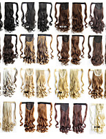 22inch 55cm 90g/pcs Wavy Fashion Velcro Ponytail Hairpieces Braid Straight Synthetic Ponytail Hair Extension