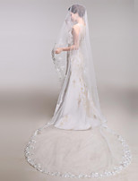 Wedding Veil One-tier Chapel Veils / Cathedral Veils Lace Applique Edge