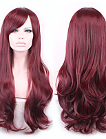 longue vague cheveux synthétiques cosplay perruque rouge