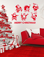 Christmas / Holiday Wall Stickers Plane Wall Stickers , PVC 60*77