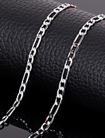 18k Silver Plated 17.5 Inch(45cm) 4mm Widthd Chain Figaro Necklace Accessories for Men