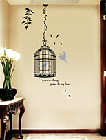 Removable Birdcage Stickers Wall