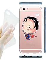 For iPhone 5 Case Transparent / Pattern Case Back Cover Case Cartoon Soft TPU iPhone SE/5s/5