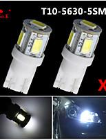 2 x t10 5 SMD5630 llevó 2.5w super luminoso blanco 194 168 luces del coche 2825 W5W del bulbo