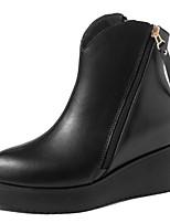 Scarpe Donna - Stivali - Formale / Casual - Stivaletto / A punta / Chiusa - Zeppa - Finta pelle - Nero