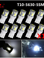 10x T10 5 SMD5630 LED 2.5W Super Bright White 194 168 2825 W5W Car Lights Bulb