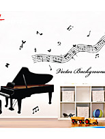 New Pattern Beautiful Piano Note Removable Waterproof Wall Sticker Home Decor Vinyl Wall Decal