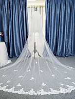Wedding Veil Two-tier Chapel Veils / Cathedral Veils Lace Applique Edge