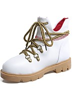 Women's Shoes Platform Fashion Boots / Comfort Boots Wedding / Outdoor / Dress / Casual Black / Pink / Red / White